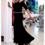 Black Top with Mermaid Maxi Skirt