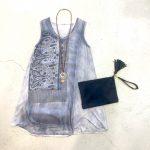 Denim Blue Scarf Dress